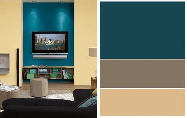 farben kombinieren strahlendes trio bild 17 sch ner wohnen. Black Bedroom Furniture Sets. Home Design Ideas