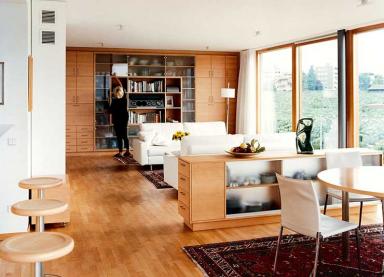 Einrichten Wohnzimmer Mit Viel Holz