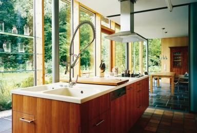 frei stehender k chenblock. Black Bedroom Furniture Sets. Home Design Ideas
