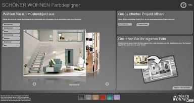 interaktiver farbdesigner r ume und fassaden einfach online gestalten bild 8 sch ner wohnen. Black Bedroom Furniture Sets. Home Design Ideas