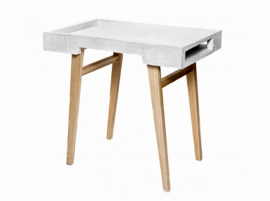 fotostrecke plastisch concrete table von sigurd larsen bild 5 sch ner wohnen. Black Bedroom Furniture Sets. Home Design Ideas