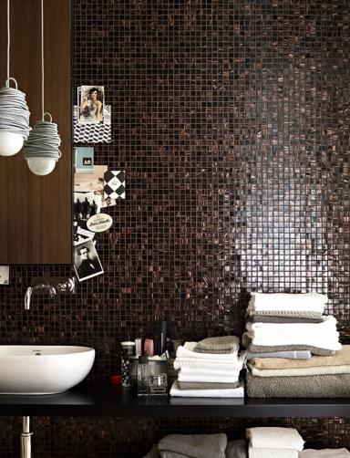 badezimmer in braun mosaik – usblife, Wohnzimmer design