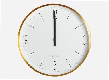 wanduhr clock couture von house doctor bild 54 sch ner wohnen. Black Bedroom Furniture Sets. Home Design Ideas