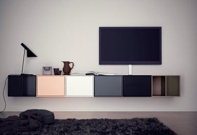 tv board aus modulen von montana bild 19 sch ner wohnen. Black Bedroom Furniture Sets. Home Design Ideas