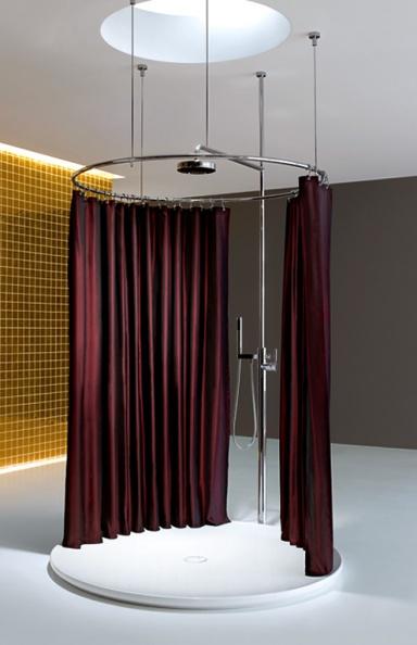 duschvorhang flexible loesung fuer badewanne dusche