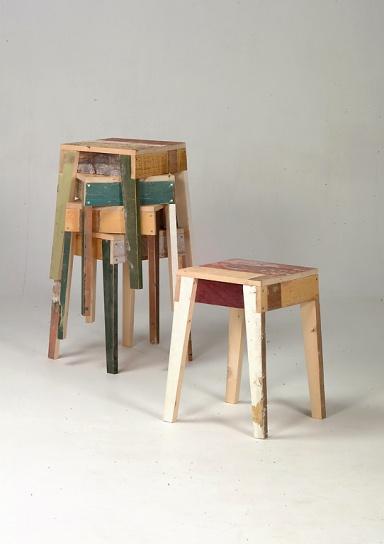 fotostrecke hocker scrapwood von piet hein eek bild 15 sch ner wohnen. Black Bedroom Furniture Sets. Home Design Ideas
