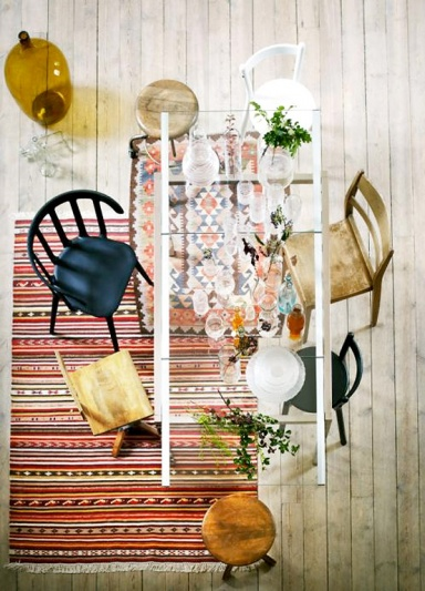 Weiße Furnierholz Stühle mit Metallgestell