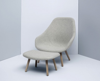 neuer klassiker about a lounge chair von hay bild 11. Black Bedroom Furniture Sets. Home Design Ideas