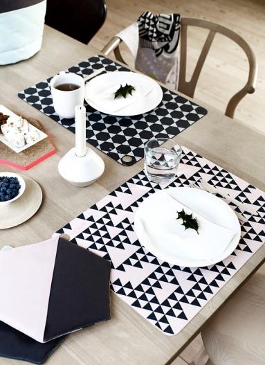Design accessoire trend grafische muster sch ner wohnen for Tischset design