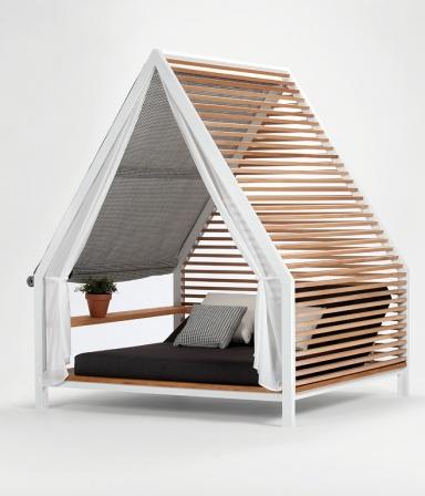 terrasse garten balkon gartenbett mit berdachung cottage von kettal bild 7 sch ner. Black Bedroom Furniture Sets. Home Design Ideas
