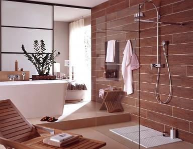 Design#5001964: Fliesen-akzente im badezimmer: eleganz dank dunkler badfliesen. Fliesen Im Badezimmer