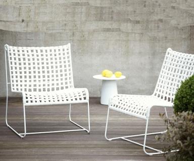 Gartenstühle aus Leder, Holz, Metall: Stuhl \