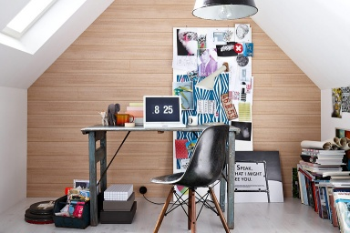 wandgestaltung mit verkleidungen paneele im holz look bild 10 sch ner wohnen. Black Bedroom Furniture Sets. Home Design Ideas