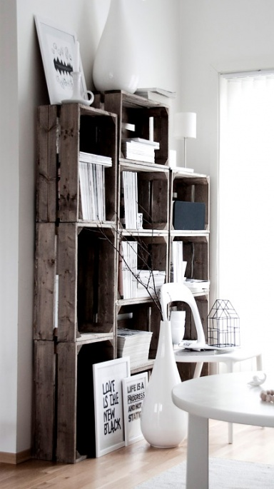 inspiration m bel aus alten holzpaletten und obstkisten sch ner wohnen. Black Bedroom Furniture Sets. Home Design Ideas