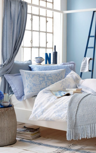 wohnen mit farben romantisches himmelblau f rs schlafzimmer bild 4 sch ner wohnen. Black Bedroom Furniture Sets. Home Design Ideas
