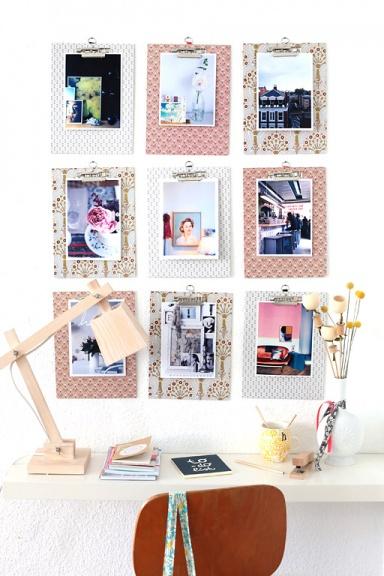 neuerscheinung pinnwand mit bedruckten klemmbrettern bild 13 sch ner wohnen. Black Bedroom Furniture Sets. Home Design Ideas