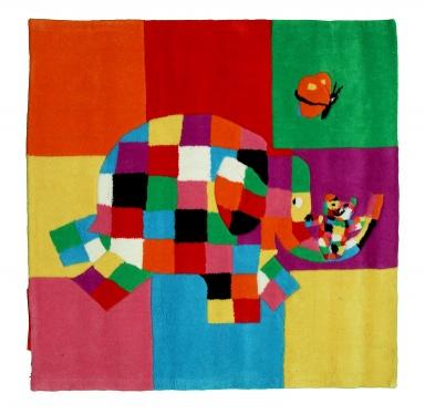 """kindermöbel: teppich """"elmar"""" mit elefantenmotiv von petit jour"""