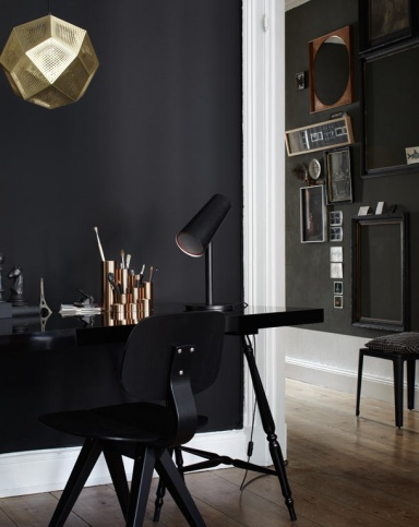 mit schwarz wohnen sch ner wohnen. Black Bedroom Furniture Sets. Home Design Ideas