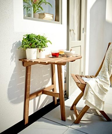 gartenm bel raumwunder tisch und stuhl askholmen bild 6 sch ner wohnen. Black Bedroom Furniture Sets. Home Design Ideas