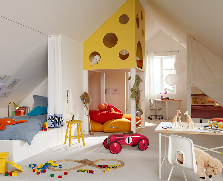 Kinderzimmer mit dachschräge