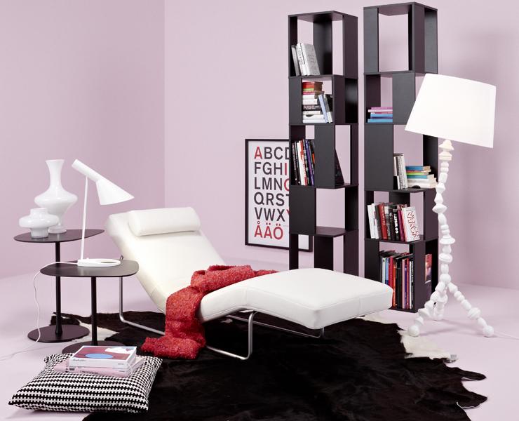 urbane lese ecke mit longchair wohnzimmer schoener wohnen