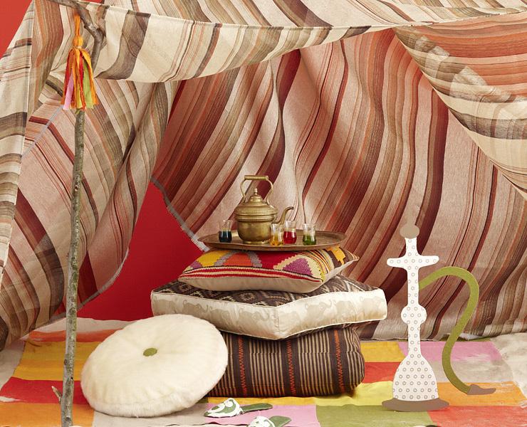 stoffe im marrokanischen stil stoffe sch ner wohnen. Black Bedroom Furniture Sets. Home Design Ideas