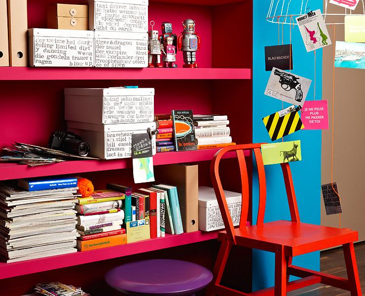 kr ftige t ne orchidee lagune und salsa rot farbkombinationen sch ner wohnen. Black Bedroom Furniture Sets. Home Design Ideas