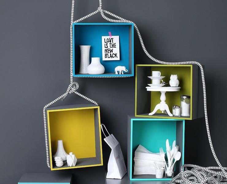 schwebende regale wohnen mit farben sch ner wohnen. Black Bedroom Furniture Sets. Home Design Ideas
