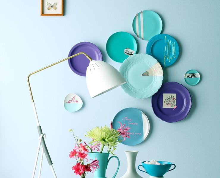 neuer look f r altes porzellan wohnen mit farben. Black Bedroom Furniture Sets. Home Design Ideas