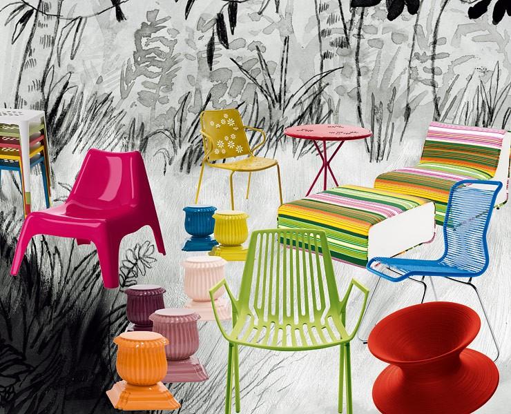 farbige m bel f r den garten gartenm bel auf einen blick sch ner wohnen. Black Bedroom Furniture Sets. Home Design Ideas