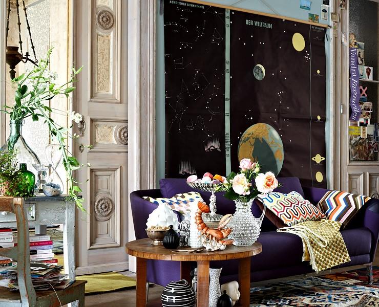 opulente muster f r das wohnzimmer accessoire trends sch ner wohnen. Black Bedroom Furniture Sets. Home Design Ideas