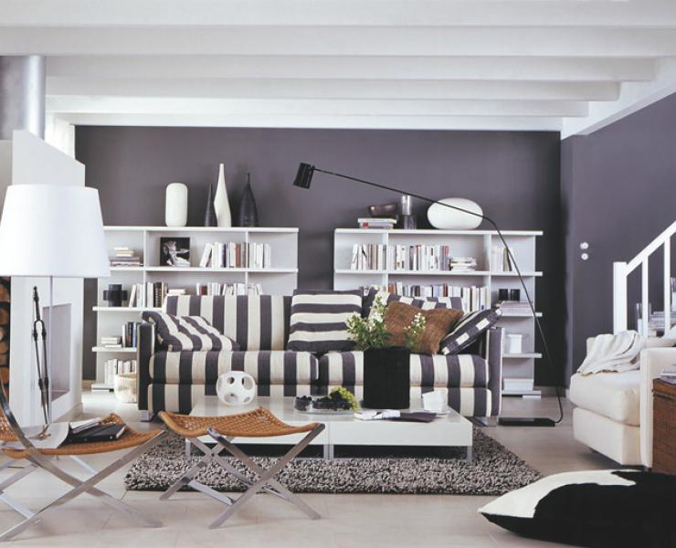 wohnzimmer weiß grau streichen | mabsolut, Modernes haus