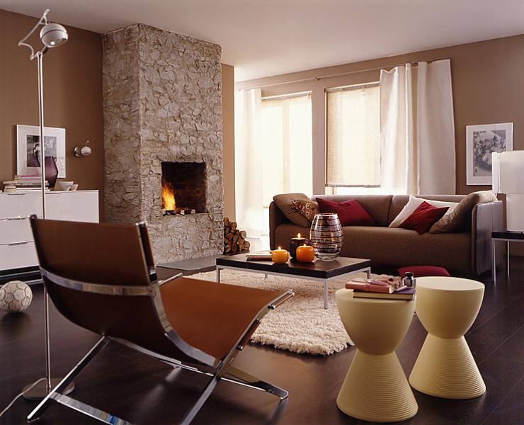 raumkonzept mit holz und erdt nen wohnzimmer sch ner. Black Bedroom Furniture Sets. Home Design Ideas