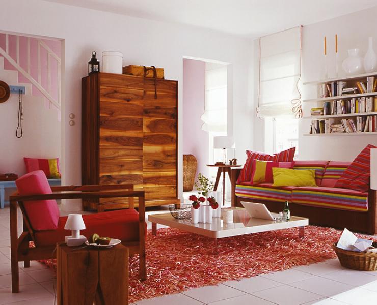 einrichten mit struktur und farbe wohnzimmer sch ner wohnen. Black Bedroom Furniture Sets. Home Design Ideas