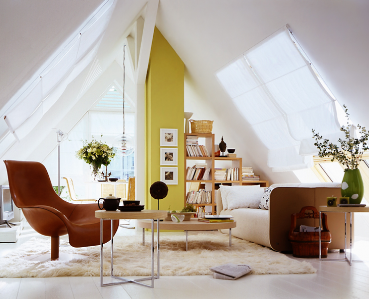 Dachschrägen Optimal Genutzt - Wohnzimmer - [SCHÖNER WOHNEN]