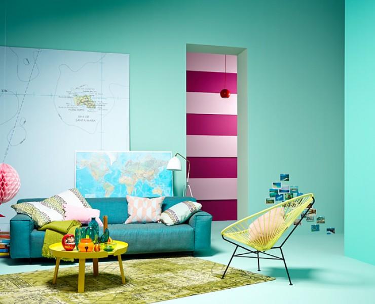 wohnzimmer im karibik cocktail look wohnzimmer sch ner wohnen. Black Bedroom Furniture Sets. Home Design Ideas