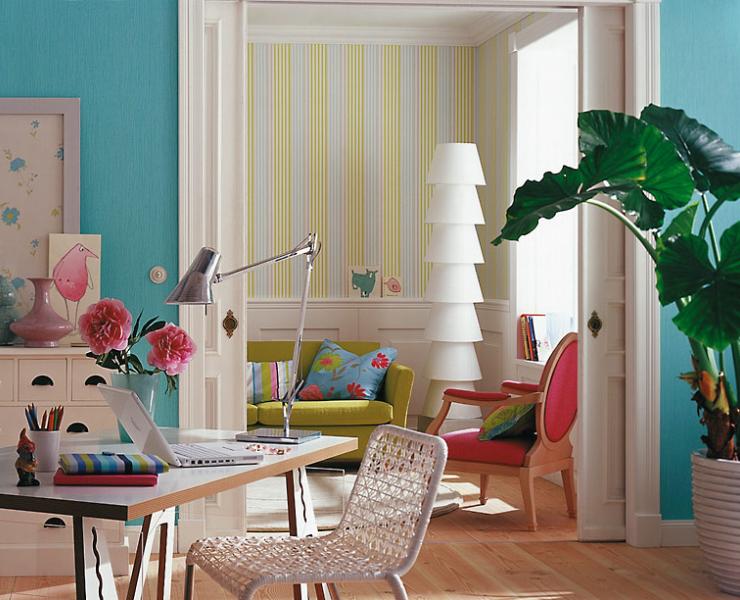 farbenfrohe frische f rs zuhause wohnzimmer sch ner wohnen. Black Bedroom Furniture Sets. Home Design Ideas