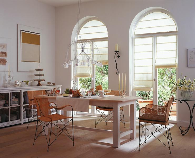 rollos f r rundbogen wohnzimmer sch ner wohnen. Black Bedroom Furniture Sets. Home Design Ideas