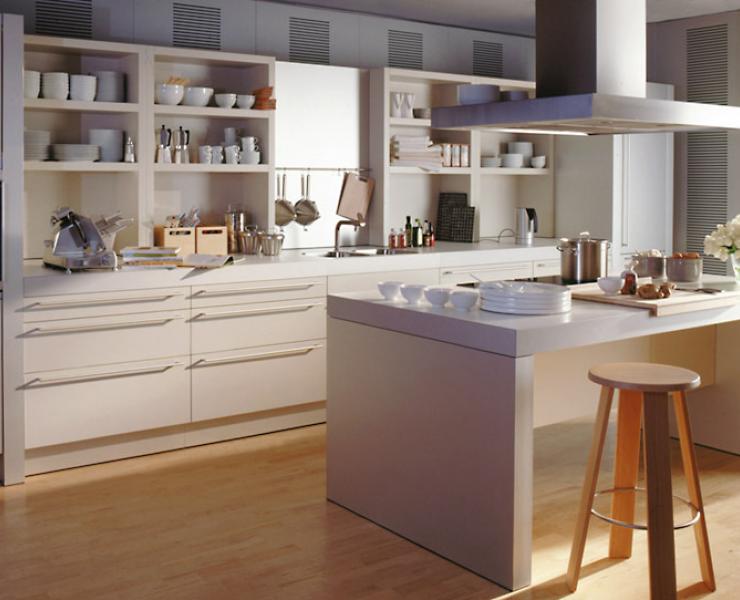 k che mit geradlinigem design k che sch ner wohnen. Black Bedroom Furniture Sets. Home Design Ideas