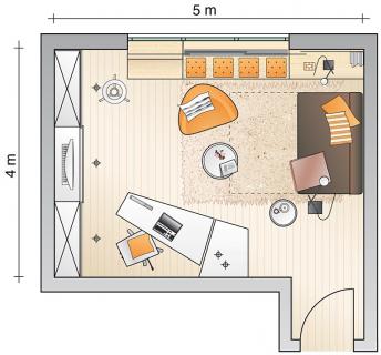 g ste und arbeitszimmer kombi arbeitszimmer sch ner wohnen. Black Bedroom Furniture Sets. Home Design Ideas
