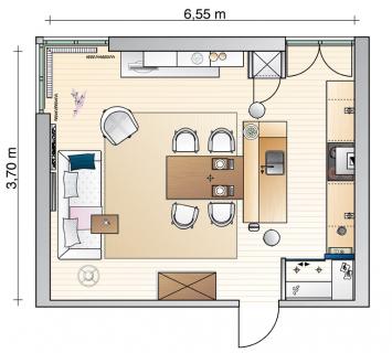 esstisch im mittelpunkt wohnzimmer sch ner wohnen. Black Bedroom Furniture Sets. Home Design Ideas
