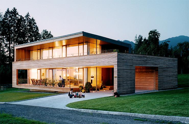 Relativ Energiesparhäuser: Holzhaus mit großen Fensterfronten - [SCHÖNER PB01