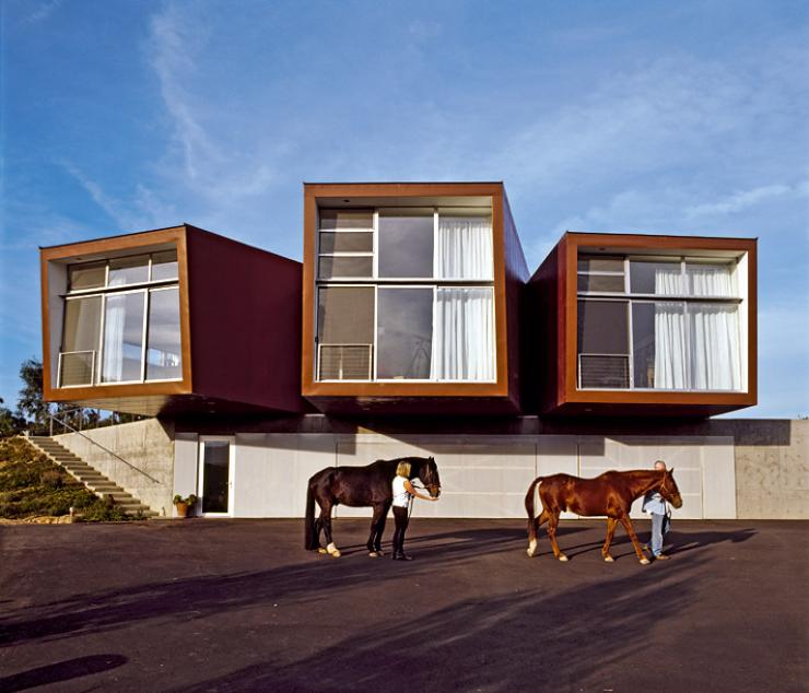 architektenh user panoramahaus aus vierkantr hren sch ner wohnen. Black Bedroom Furniture Sets. Home Design Ideas