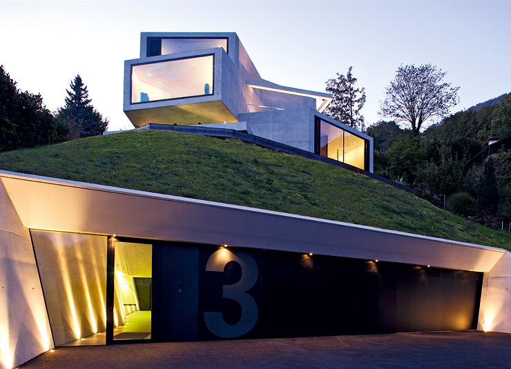 architektenh user verschachtelte villa aus betonboxen sch ner wohnen. Black Bedroom Furniture Sets. Home Design Ideas