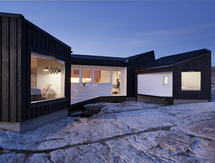 architektenh user ferienhaus in norwegen sch ner wohnen. Black Bedroom Furniture Sets. Home Design Ideas