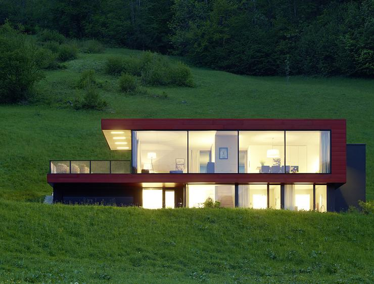 architektenh user familiendomizil am hang sch ner wohnen. Black Bedroom Furniture Sets. Home Design Ideas