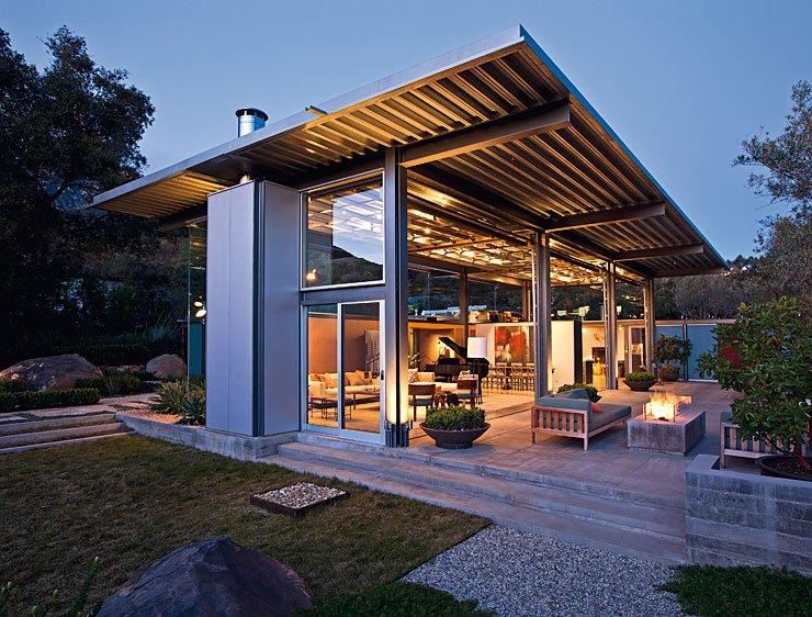 architektenhaeuser villa aus glas und stahl schoener wohnen