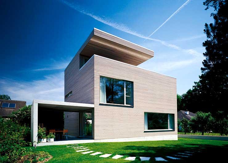 kubisches wohnhaus mit drei stockwerken sch ner wohnen. Black Bedroom Furniture Sets. Home Design Ideas