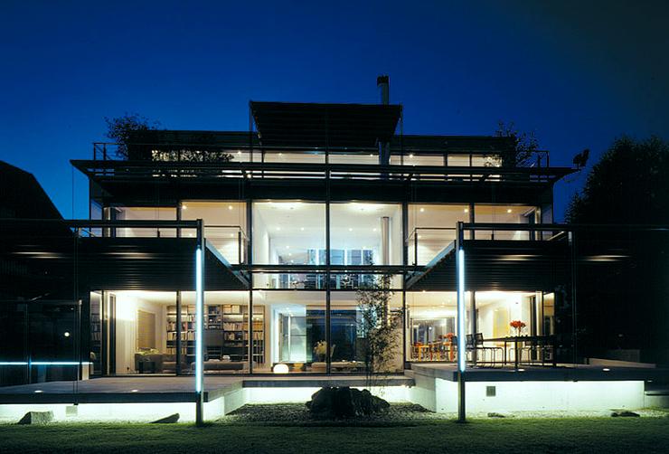 flachdach haus aus stahl und glas schoener wohnen