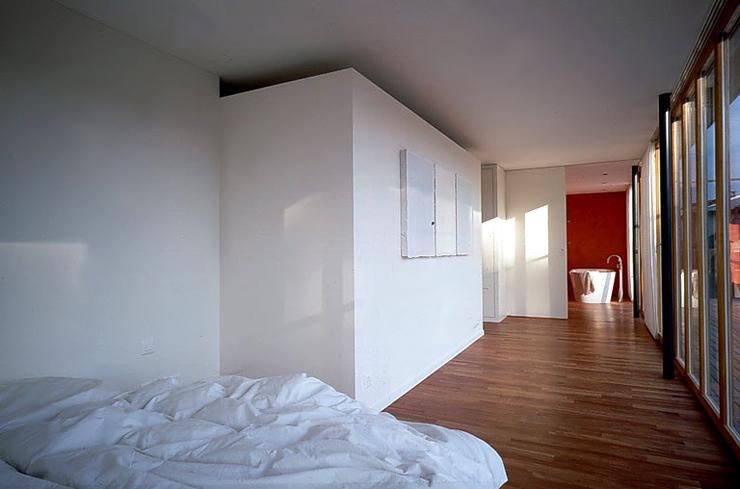 holzhaus mit flachdach hangh user sch ner wohnen. Black Bedroom Furniture Sets. Home Design Ideas